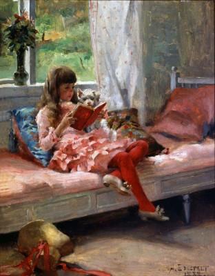 Albert Edelfelt, Goda vänner II, 1882, oljemålning. Konstmuseet Ateneum. Foto: Douglas Siven.