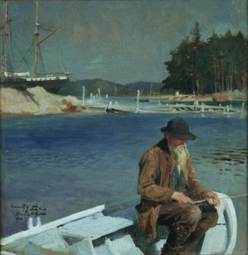 Albert Edelfelt, Metande gubbe, 1896, oljemålning. Albert Edelfelts stiftelse.